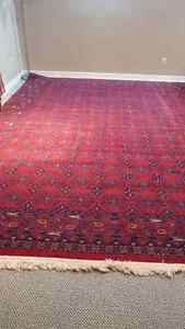 Turkish Rug large 10 ft by 13ft $390 maroon/red beautiful