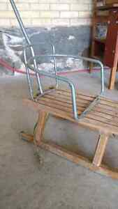 Antique wooden sled with handle Kitchener / Waterloo Kitchener Area image 3