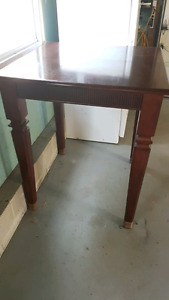 Solid wood bar table - with extension