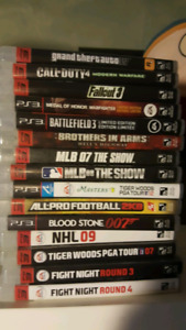 PS 3 GAMES...IN AMAZING SHAPE...NO SCRATCHES...$5.00 EACH