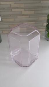 Vase décoratif en verre rose crystal pink