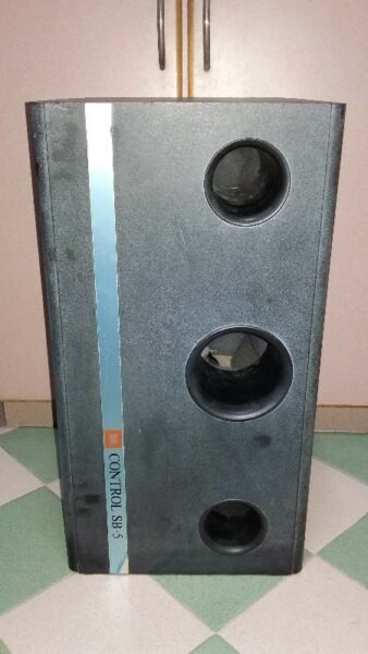 POWERFUL BASS OF VINTAGE JBL CONTROL SB-5 PASSIVE SUBWOOFER MADE IN USA.