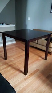 Gently Used Bar Height Square Dining Table Dark Brown