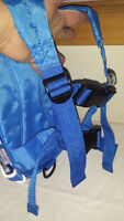 New Blue mini-backpack Safety Harness, never used/needed