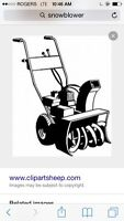 Wanting to buy $$$ your broken snowblower 8hp and up