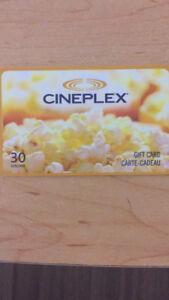 Cineplex movie gift card