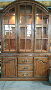 Solid Oak Dining set with matching China Cabinet