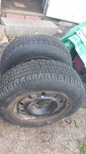 205/70R15 2 rims with good tires