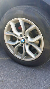 "Original BMW set of rims and tires 18"" for BMW X3 or X4"