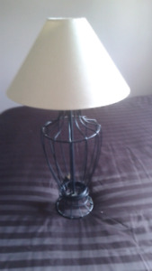 Four end table lamps