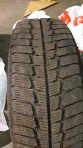 2 Winter tires honda civic. 195/65/15 West Island Greater Montréal image 3