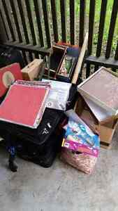 Large box of Scrapbooking goods