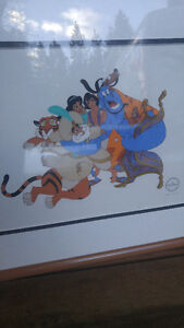 Disney Serigraph picture Alladin Group Hug Limited Edition