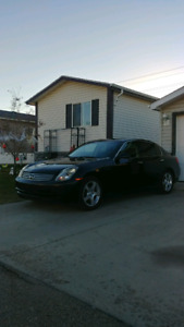 2004 Infiniti G35, 6 speed manual rear wheel drive.