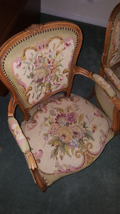 Louis XV needlepoint chairs