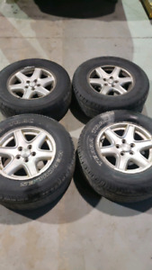 Jeep liberty rims and tires OEM