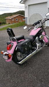 Pink & Black Honda Shadow ACE Deluxe 750cc