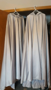 Selling two long silver cloaks