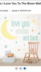 Love You to the Moon and Back wall decal