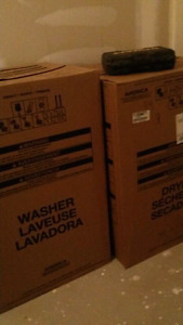 **brand new** sealed box white washer and dryer