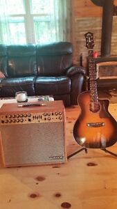 Guild Acoustic Guitar and Guild Acoustic Amp