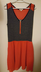 Striped/red casual dress