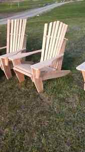 cedar and pine muskoka chairs with the dutch touch sale $99 !