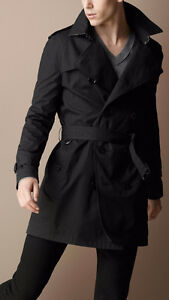 Burberry Mens Cotton Twill Trench Coat