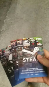 Steam gift cards!!!!