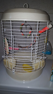 Bird cage and accessories for sale