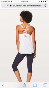 Lulu lemon yoga tank. Size 4 white