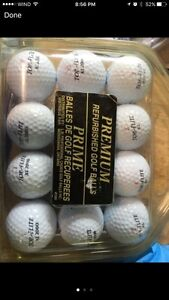 Gently used golf balls & clubs