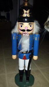 BLUE NUTCRACKER WITH A SWORD