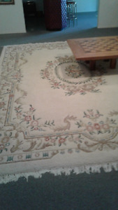 Very large 'East India' rug  white 12' x 15' white