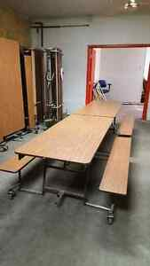 Folding cafeteria tables only 3 left