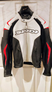 White/Red/Black SPIDI Leather Jacket - BRAND NEWCondition