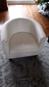 2 Designer leather chairs