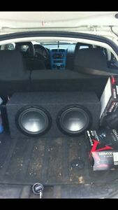2 twelve inch kenwood subwoofers amp included