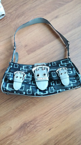Guess black and grey buckle purse