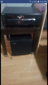 Sony home theater and powered subwoofer