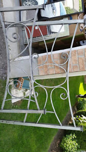 Beautiful Queensize Rod Iron head and foot board London Ontario image 1