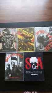 Sons of Anarchy DVDS: Seasons 1 - 5