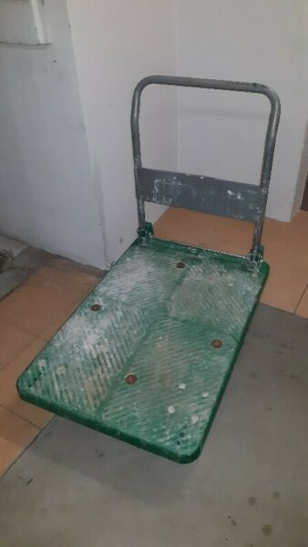 NORMAL BIG HARDEN PLASTIC TROLLEY CAN LOAD UP TO 300kg.