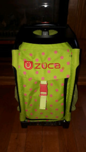 2 green with pink polka dots Zuca Figure Skating Bags