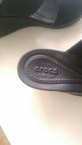 Crocs brand wedges black womens size 7