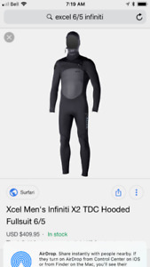 Excel winter wetsuit like new