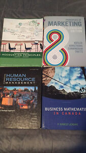 First year business management text books!