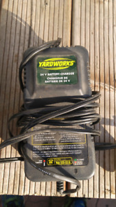 Yard works 24 volt charger + battery?