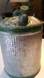 Vintage kerosene gas tin can