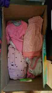 6-12 month box of girls clothes